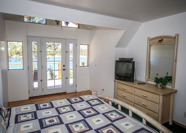 Master Bedroom with Lakefront Deck