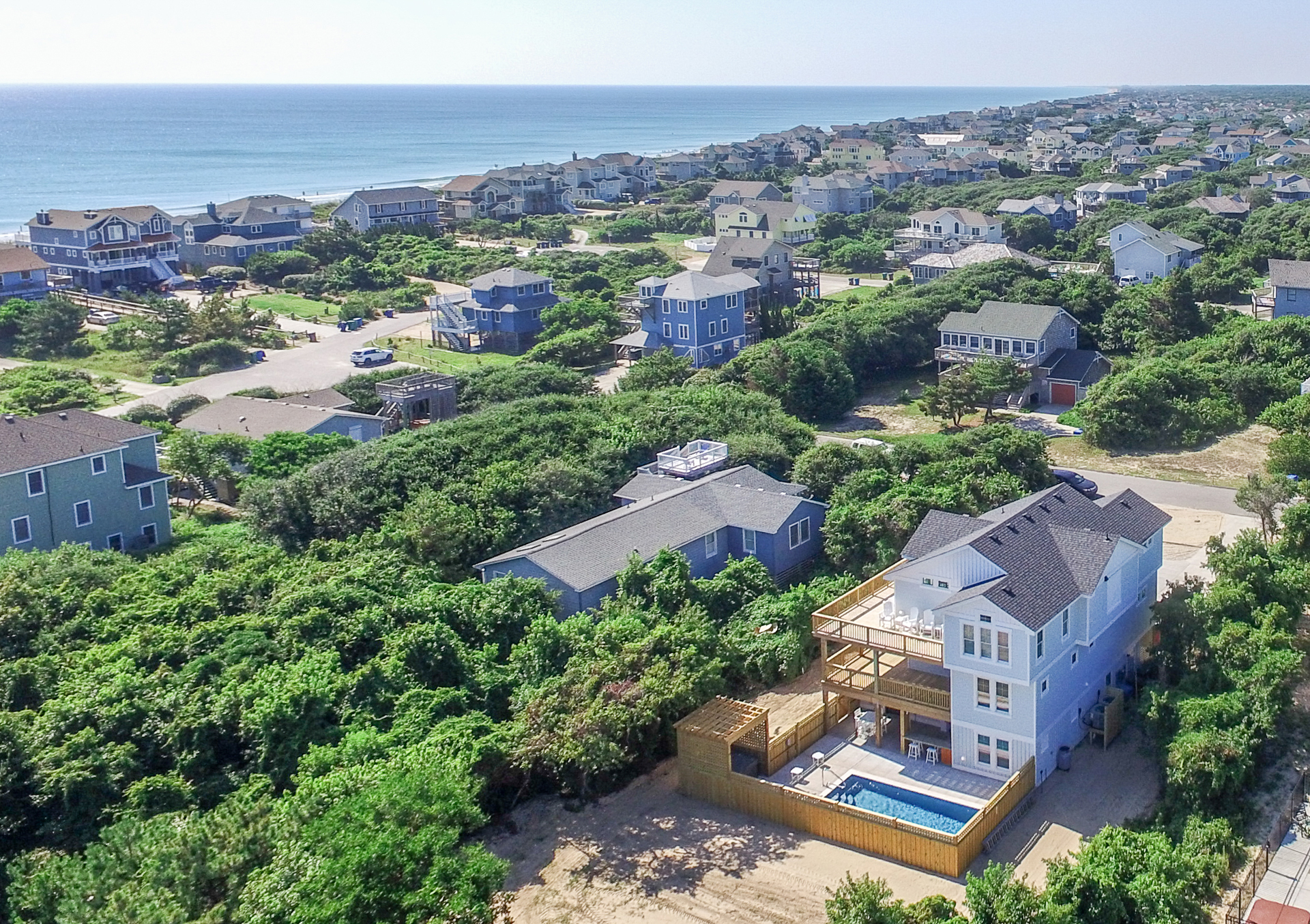 Oceanside in Saltaire Duck, NC - 130 Yards to Community Beach Access