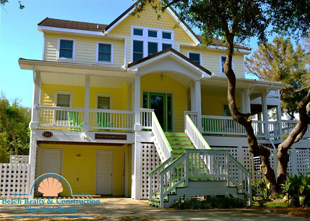 Four seasons haven 3541 duck vacation rental four for Beach house plans outer banks