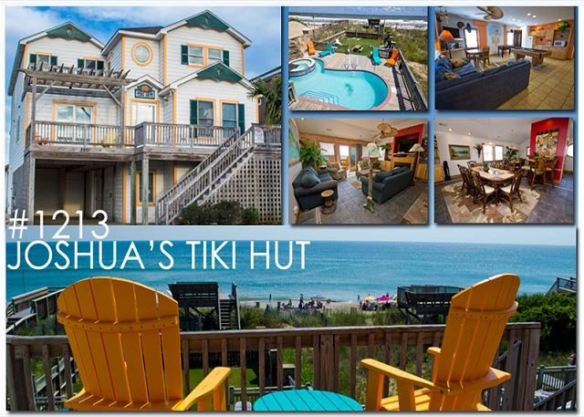 Joshua S Tiki Hut 1213 Nags Head Rentals Outer Banks