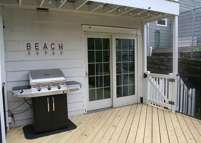 Back deck with grill and seating