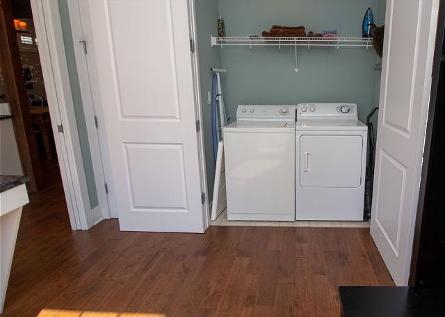 Laundry/Mudroom just off the kitchen on main level.