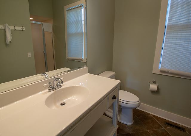 Master Bath with walk in shower on main level