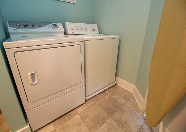 Ground floor laundry in half bath