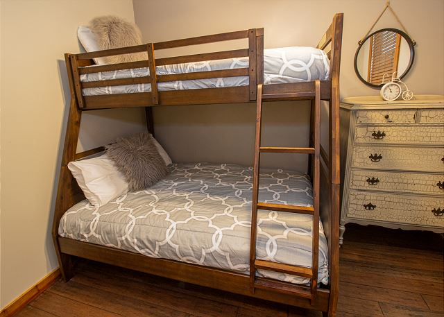Main level bunk bed twin over queen