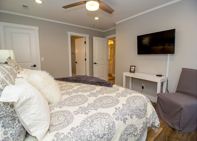 Second level King bedroom with attached 3/4 bath
