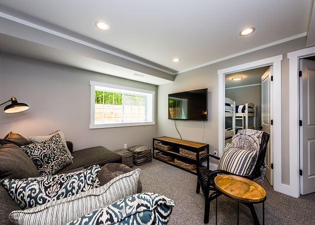 Garden level living space