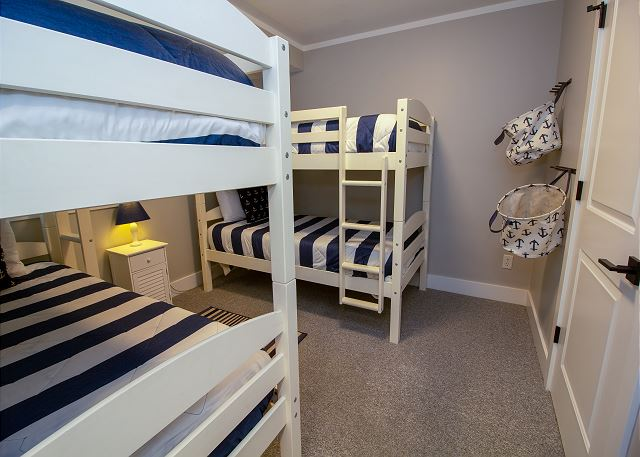 Basement two twin bunk beds