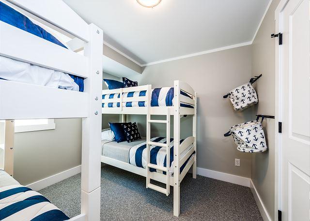 Basement level double twin bedroom