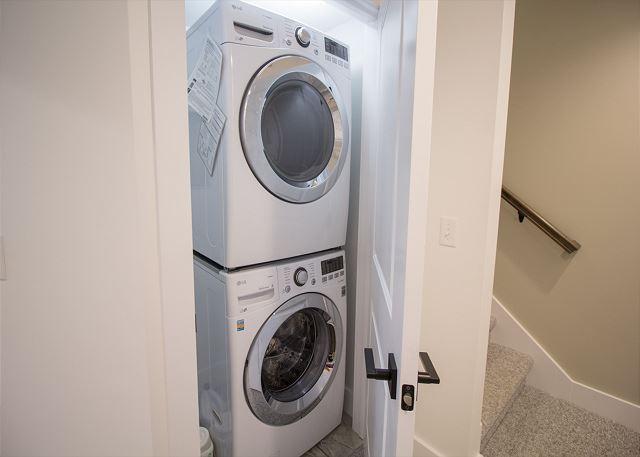 Full laundry facilities in garden level.