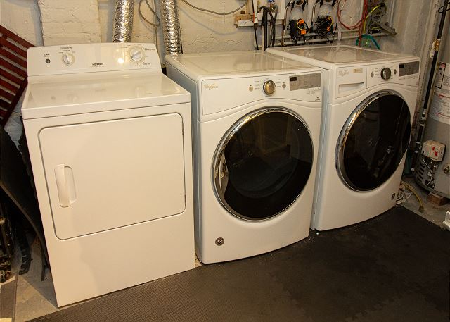 Basement washers and dryer
