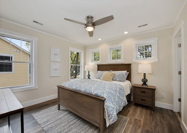 Second floor bedroom with Queen.