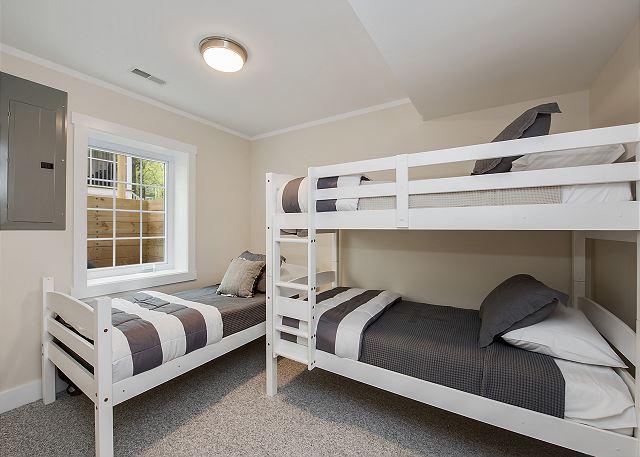 Basement bunk bedroom.