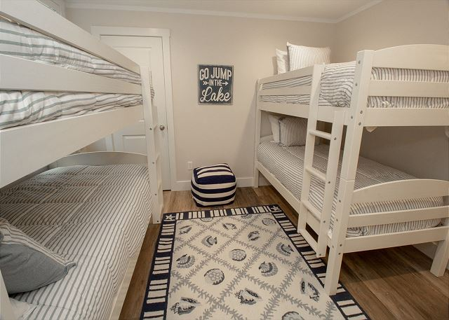 Bunk Bedroom in Basement