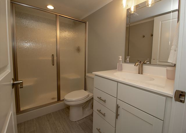 Basement Walk in Shower Bathroom