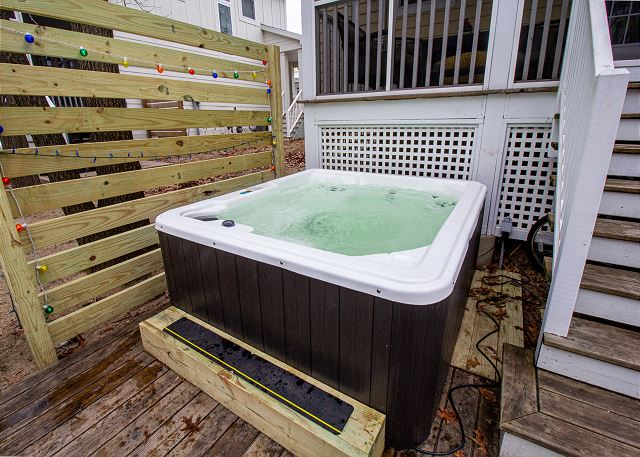 Hot tub on back deck