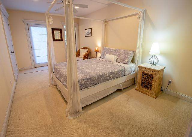 Second level bedroom #1- queen bed with attached 3/4 bathroom