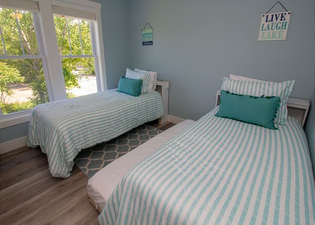 Second level twin beds