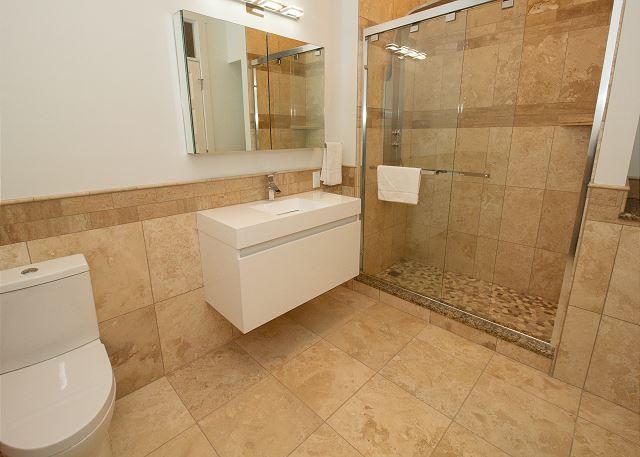 Main level master 3/4 bath