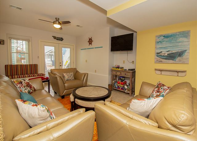 Ground level living room