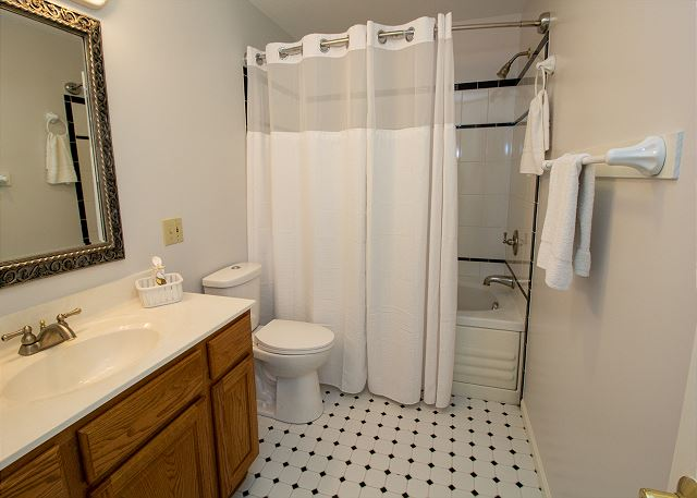 Second level attached full bath