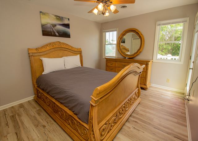 Second level queen bedroom with attache full bath
