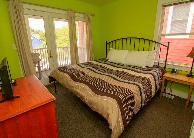 Bedroom with a king bed
