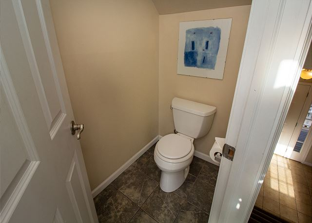 Second floor landing powder room