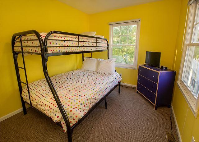 Second floor twin over full bunk bed