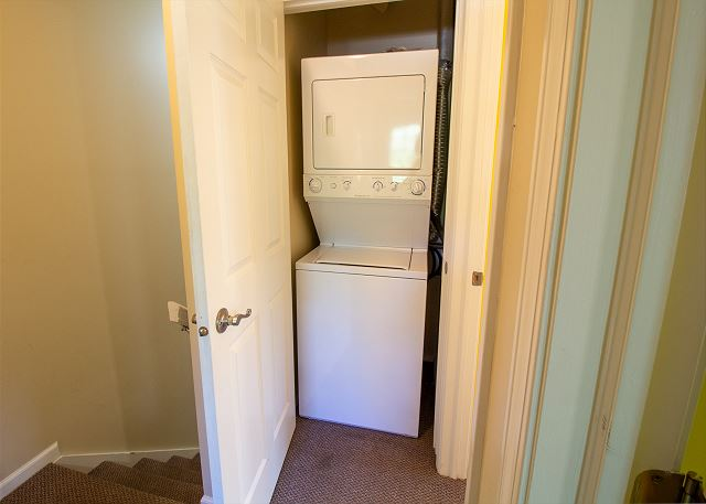 Second floor stacking washer/dryer