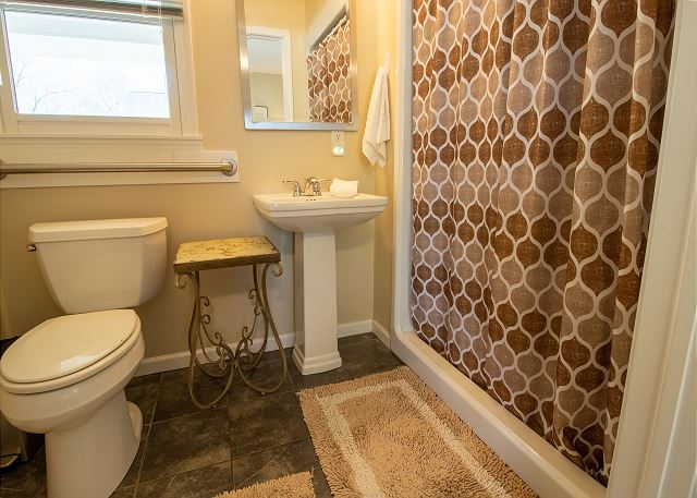 Main Level Bedroom #1 -  attached 3/4 bath