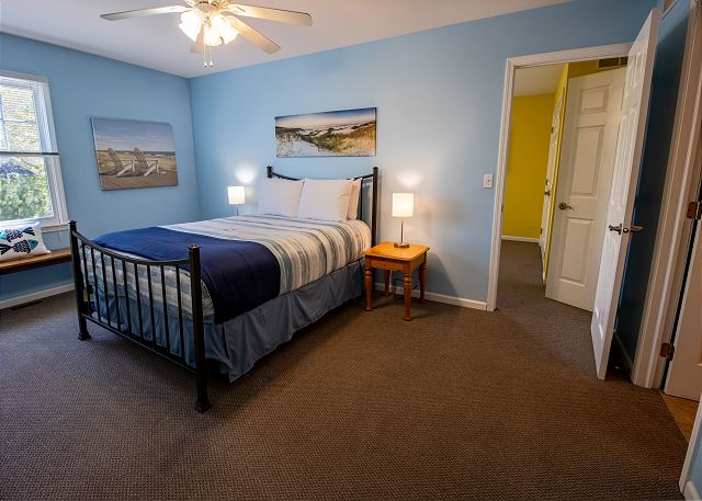 Second Level Bedroom #5 - Queen bed with attached 3/4 bath