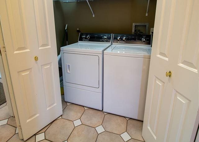 Main Level hall washer and dryer