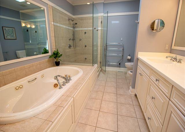 Main Level attached master bath