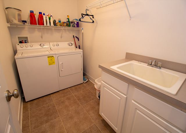 Ground level laundry room