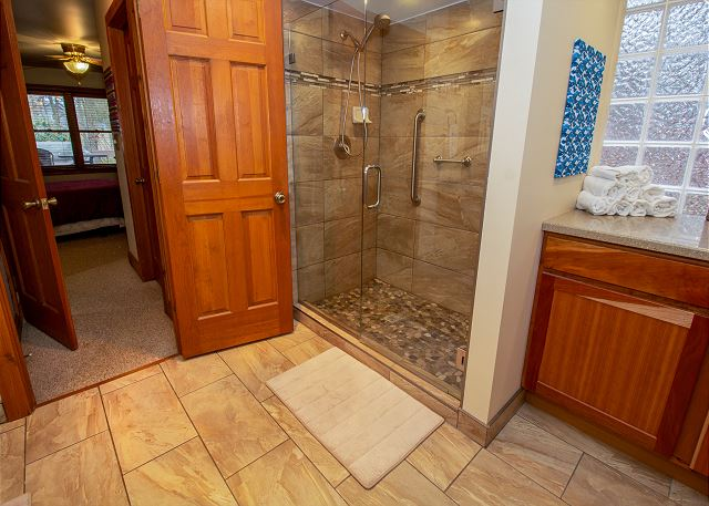 Attached 3/4 attached master bath