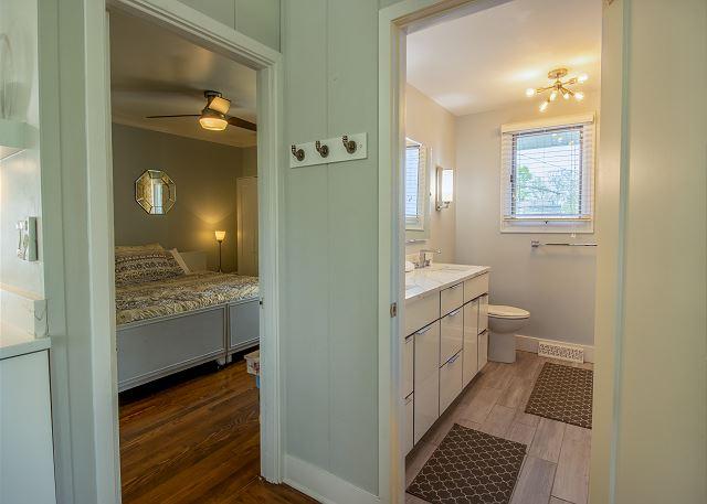 Main Level hall bath and bedroom #1 - King