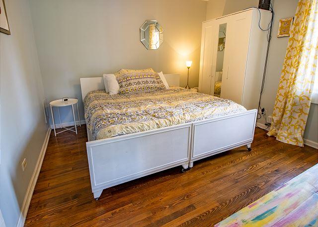Main Level bedroom #1 - King bedroom with TV