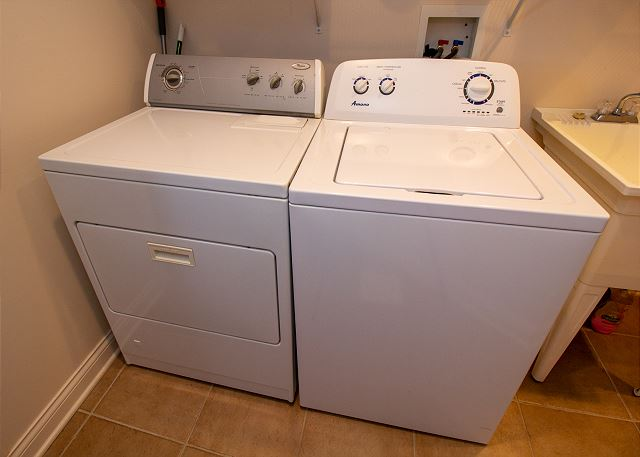 Basement level laundry room