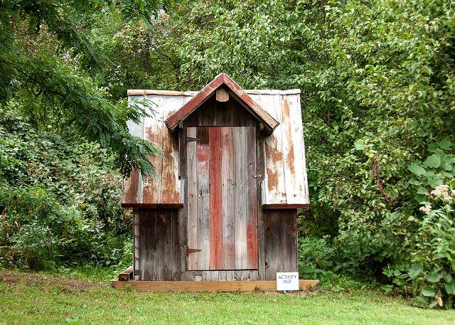 Adventure Island activity hut