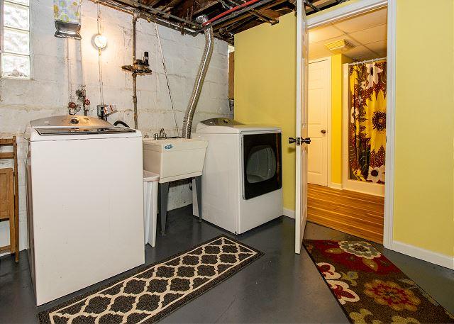 Basement laundry and 3/4 bathroom