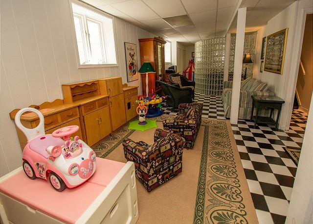 Basement children's play area