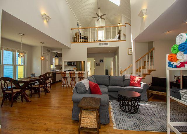 Main level dining, living room