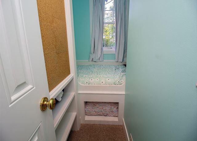 Second level twin bedroom