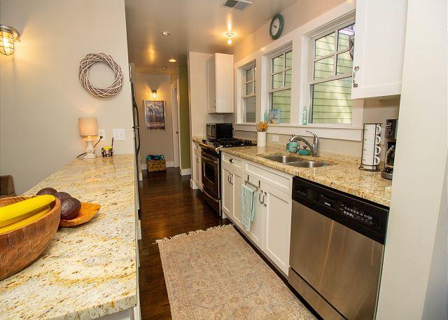 Main level galley kitchen