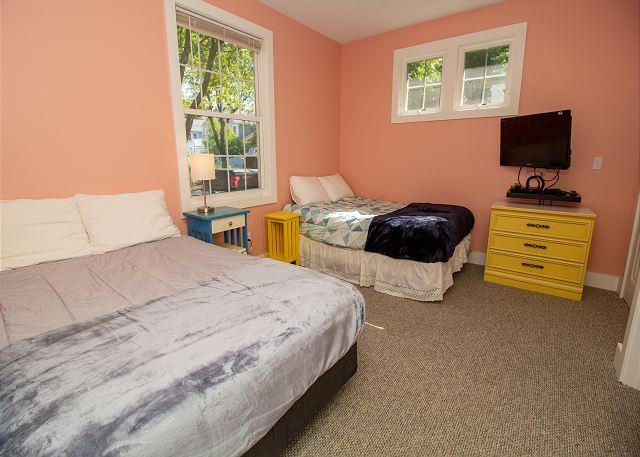 Main level queen and full bedroom