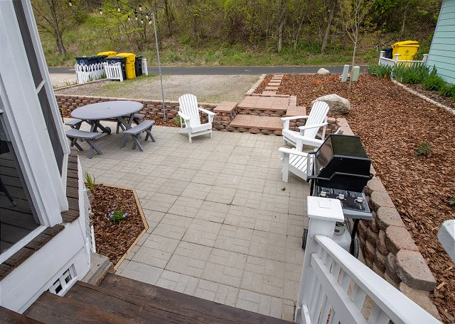 Back Porch with  gas grill and picnic area