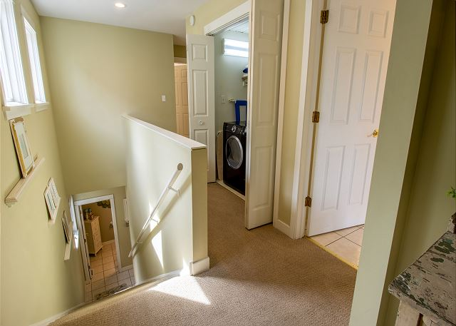 Second Level Landing with washer and dryer