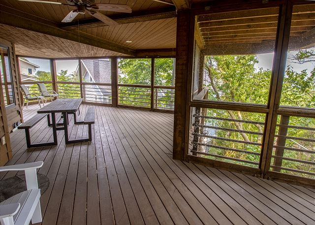 Main level screened in porch