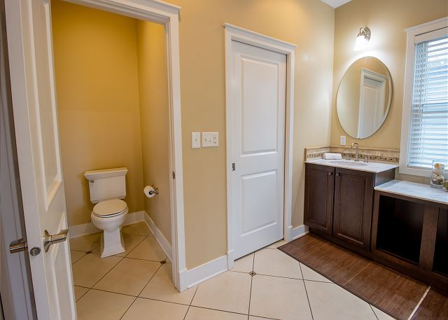 Master bath with private commode